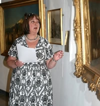 "Lecturing at the ""Richard Ansdell Revisited"" exhibition, June 2011, Booths Gallery, Lytham St. Annes"
